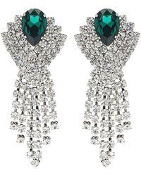 Alessandra Rich - Clip-Ohrringe mit Kristallen - Lyst