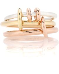 Spinelli Kilcollin - Raneth 18kt Gold, 18kt Rose Gold And Sterling Silver Ring - Lyst