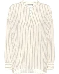 Vince - Striped Silk Blouse - Lyst