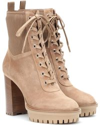 Gianvito Rossi - Martis Suede Ankle Boots - Lyst