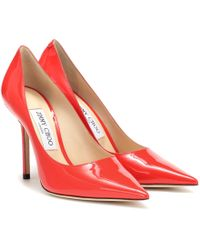 Jimmy Choo Salones Love 100 de charol - Rojo