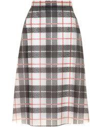 Burberry - Tartan-printed Plastic Skirt - Lyst