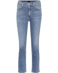 Citizens of Humanity - Cara High-waisted Cigarette Jeans - Lyst
