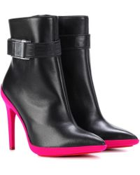 Off-White c/o Virgil Abloh - Leather Ankle Boots - Lyst