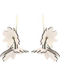 Marni - Leather Flower Earrings - Lyst