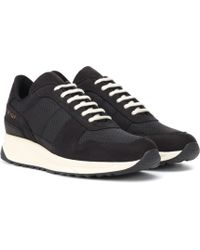 Common Projects - Track Vintage Leather Sneakers - Lyst