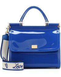 a14f957388 Dolce   Gabbana Sicily Crocodile and Snake Cross-Body Bag in Blue - Lyst