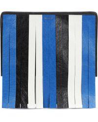 Balenciaga - Bazar Fringed Leather Clutch - Lyst