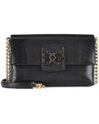 Lyst - Dolce   Gabbana Dg Millennials Leather Shoulder Bag in Black 55464cf287d0d