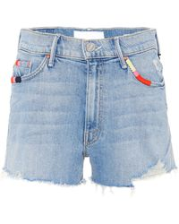 Mother - Easy Does It Denim Shorts - Lyst