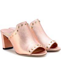 Jimmy Choo - Myla Open-toe Leather Mules - Lyst