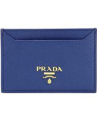 Prada - Leather Card Holder - Lyst