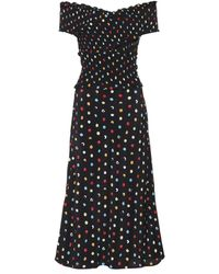 Anna October - Polka Dot Off The Shoulder Dress - Lyst