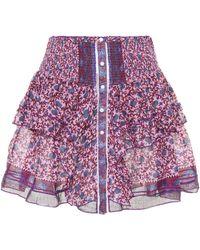 Poupette - Printed Cotton Skirt - Lyst