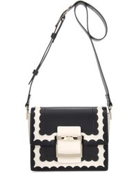 Roger Vivier | Mini Viv' Scallops Leather Shoulder Bag | Lyst