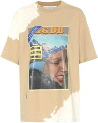 Golden Goose Deluxe Brand - Brochure Printed Cotton T-shirt - Lyst