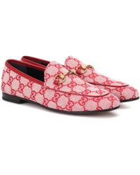 Gucci - Jordaan GG Canvas Loafers - Lyst