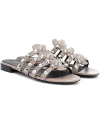 Balenciaga - Arena Leather Sandals - Lyst