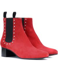 ALEXACHUNG - Suede Ankle Boots - Lyst