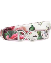 Dolce & Gabbana - Printed Leather Belt - Lyst