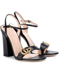 dcaa505c413 Gucci Ursula Cage High Heel Sandal in Black - Lyst