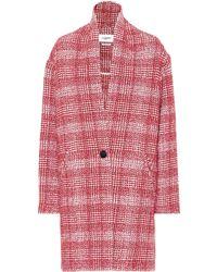 Étoile Isabel Marant Ebrie Checked Wool-blend Coat