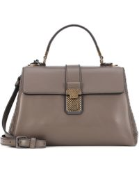 Bottega Veneta - Small Piazza Leather Shoulder Bag - Lyst
