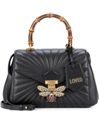 Gucci - Queen Margaret Leather Top Handle Bag - Lyst