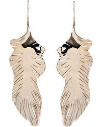 Valentino - Garavani Feather Drop Earrings - Lyst