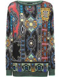 Etro - Printed Sweater - Lyst
