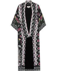 Temperley London - Flux Printed Satin Kimono - Lyst
