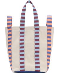 Marni - Leather-trimmed Canvas Tote - Lyst