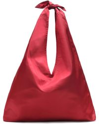 The Row - Bindle Satin Shoulder Bag - Lyst