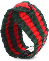 Gucci - Stirnband aus Rippstrick - Lyst