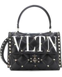 Valentino - Garavani Vltn Rockstud Leather Shoulder Bag - Lyst