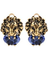 Gucci - Crystal-embellished Clip-on Earrings - Lyst