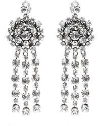 Gucci - Silver Tennis Crystal Earrings - Lyst