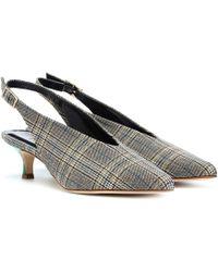 Tibi - Lia Plaid Kitten-heel Court Shoes - Lyst