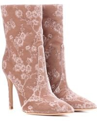 Gianvito Rossi - Exclusive To Mytheresa. Com – Melanie Velvet Ankle Boots - Lyst