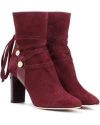 db84cb265857 Lyst - Jimmy Choo Houston 45 Suede Ankle Boot in Brown