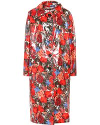 Marni - Coated Floral Cotton Coat - Lyst