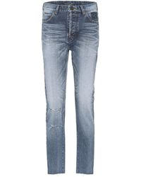 Saint Laurent - Jeans aus Baumwolle - Lyst