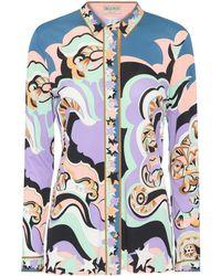 Emilio Pucci - Printed Silk-blend Shirt - Lyst