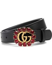 Gucci - Crystal-embellished Leather Belt - Lyst