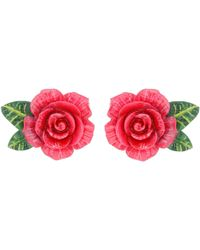 Dolce & Gabbana - Rose Clip-on Earrings - Lyst