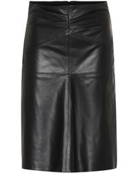 6924340982d Isabel Marant - Gladys Leather Midi Skirt - Lyst