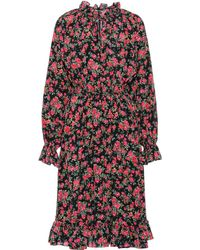 Dolce & Gabbana - Printed Silk Dress - Lyst