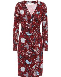 Diane von Furstenberg - Julian Floral-printed Silk Dress - Lyst