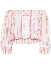 Melissa Odabash - Azura Striped Cotton Crop Top - Lyst