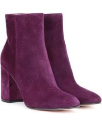 Gianvito Rossi - Rolling 85 Suede Ankle Boots - Lyst